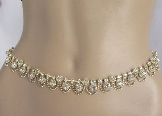 Rose Gold Belly Chain Couture Belt Waist Hip By