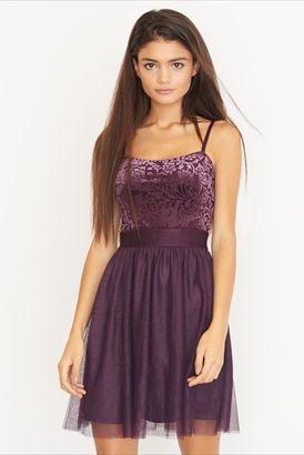 Velvet & Tule Fit & Flare Dress