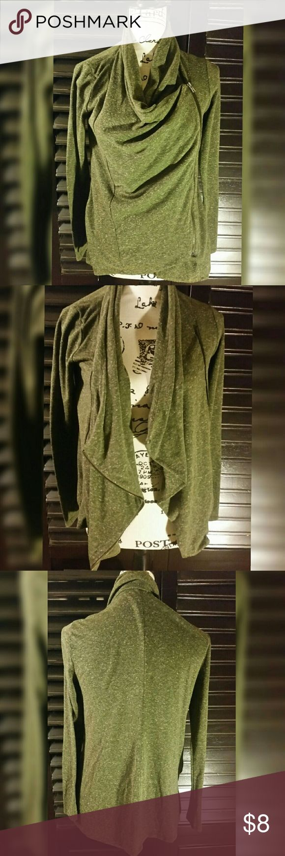 Forever 21 Small Green Zip Up LS Casual Cardigan Forever 21 Small Green Zip Up Long Sleeve Light Cardigan Forever 21 Jackets & Coats
