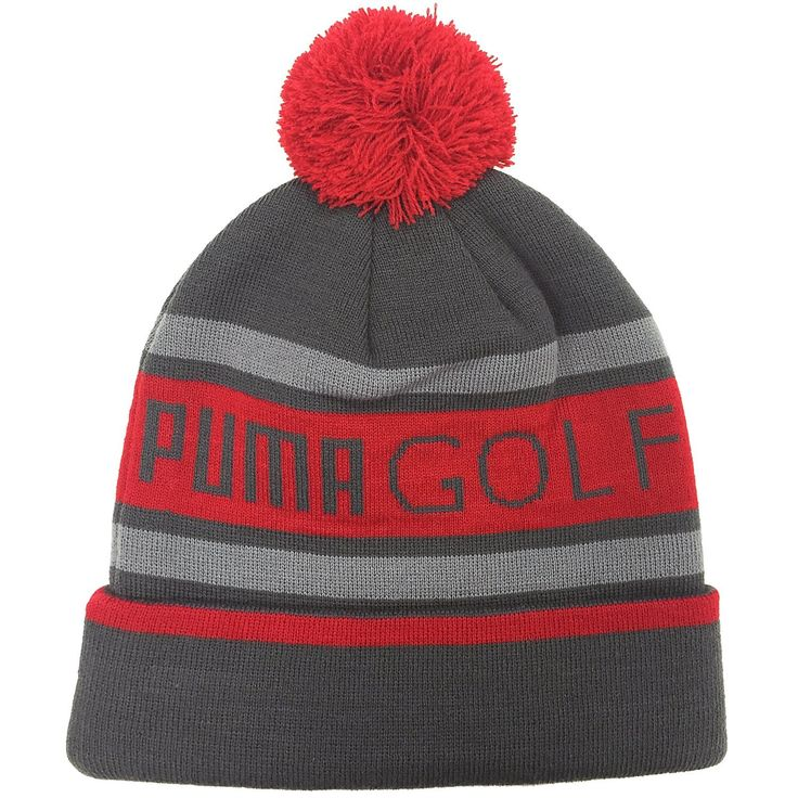 Constructed using warm knit materials thes mens pom golf beanie bobble hats by Puma will ensure you stay warm and comfortable on the golf course!