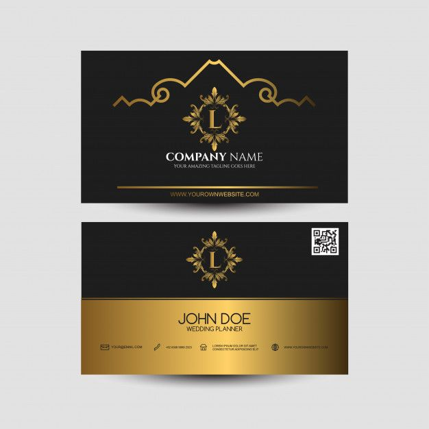 Business Card With Golden Color Business Cards Creative Free Printable Business Cards Cool Business Cards