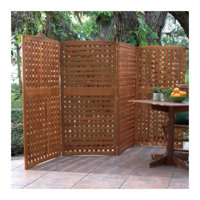 Outdoor Privacy Panels | Home Natural 4-Panel Yard Privacy Screens...LOVE THIS ONE!!!!! Movable, in case I decided not to buy my place....