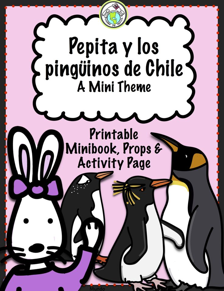 Your preschool & early elementary Spanish students will LOVE this theme pack dedicated to the PENGUINS of Chile! Bringing language & culture together, the minibook features four penguin species, & the theme pack includes props and a counting game. Mundo de Pepita, Resources for Teaching Spanish to Children