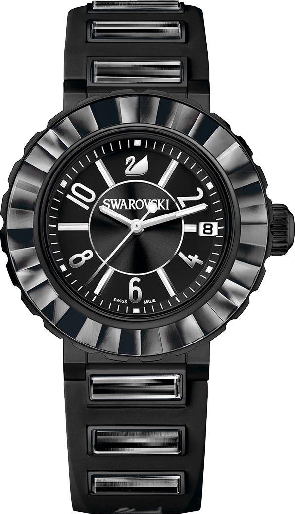 Black swarovsky watch