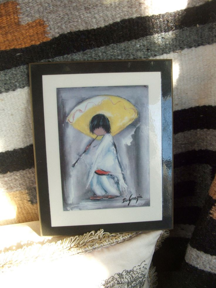 "DeGrazia Laminated Wall Plaque Piccolo Pete 7"" x 5.5"" by lookonmytreasures on Etsy"
