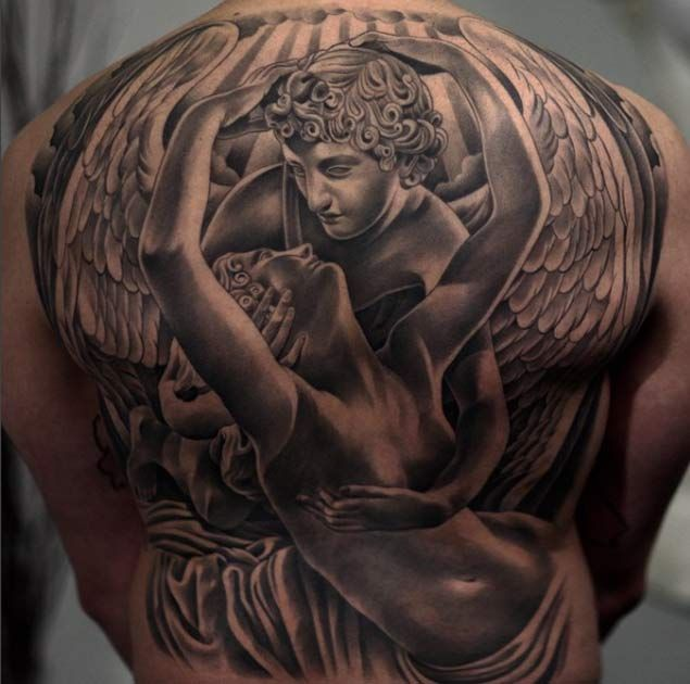 Full Back Angel Tattoo by Jun Cha
