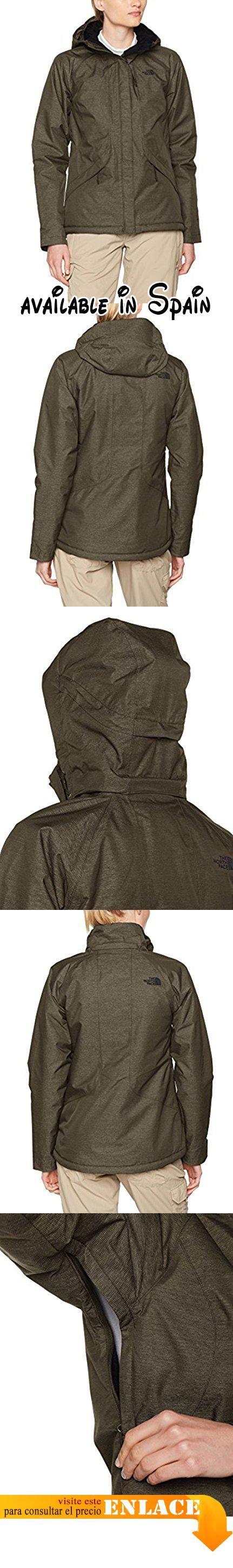 B073XY81QF : The North Face W Inlux Insulated Jacket Chaqueta Mujer New Taupe Green L. Tejido DryVent de doble capa impermeable transpirable y con costuras selladas con aislamiento PrimaLoft de 100 g en cuerpo y capucha y de 60 g en las mangas. Forro polar raschel en cuello y cuerpo; forro polar Sherpa en cambray de color azul. Capucha desmontable totalmente ajustable. Capucha con ribete desmontable y parte interna de forro polar para mayor protección. Solapa de protección