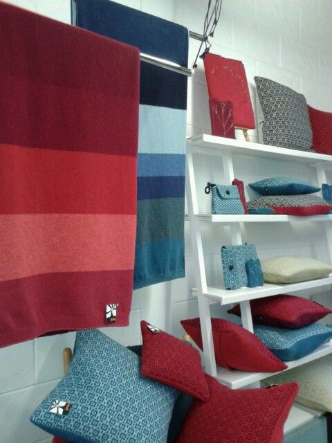 Knitted throws and cushions by janie knitted textiles