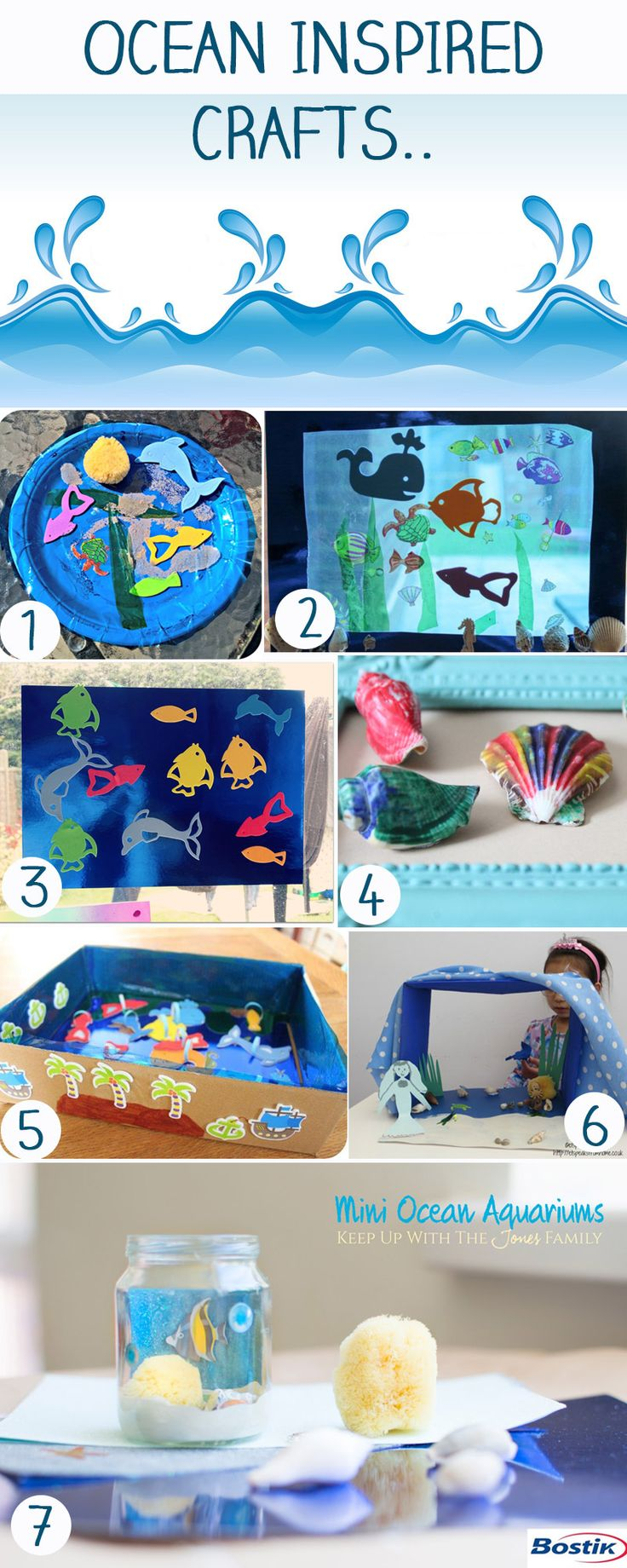 Ocean Inspired Crafts with Bostik
