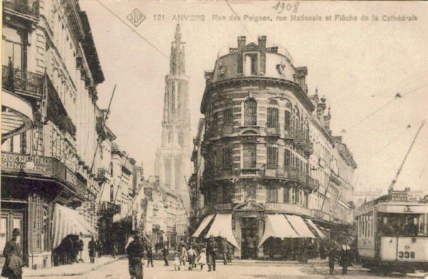 Nationalestraat, Kammenstraat, 1908, bron VlaTAM