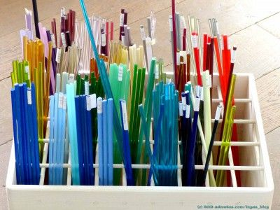 Tutorial: How to make a box storage for lampwork glass rods