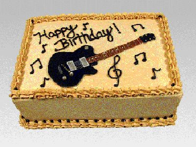 Guitar Birthday Cake Design Wallpaper cakepins.com