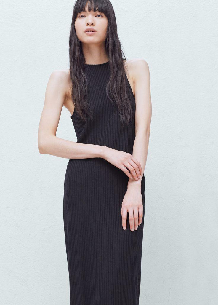 Úpletové šaty midi - Šaty for Žena | MANGO Česká republika