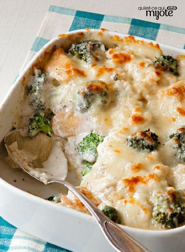 Gratin de poulet, brocoli et riz #recette