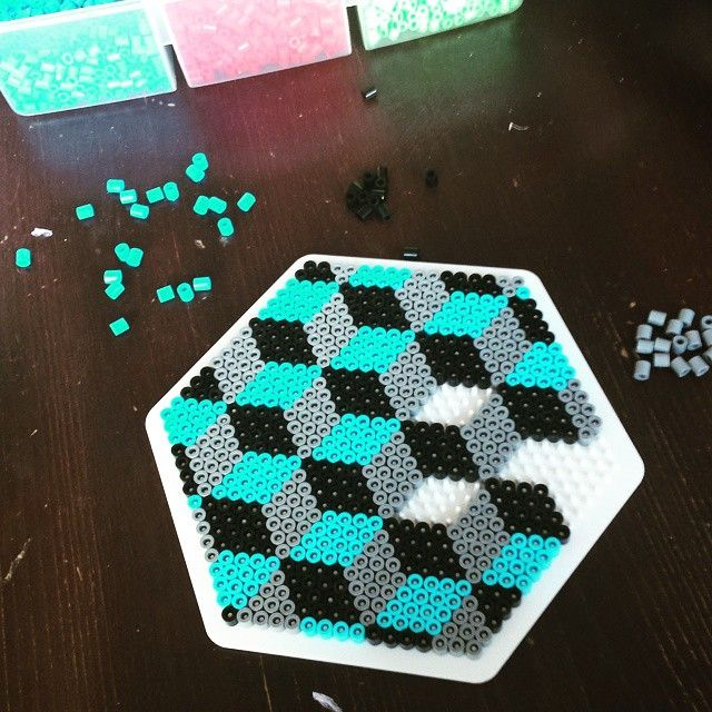 Geometric design hama beads by nattergalen_8