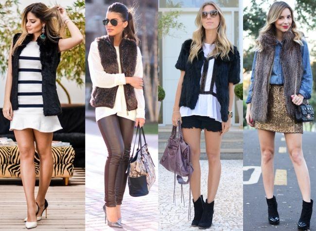 Como usar colete: a peça coringa do seu guarda roupa. Colete feminino, colete de pelo, colete de couro, colete jeans. Tipos de colete.