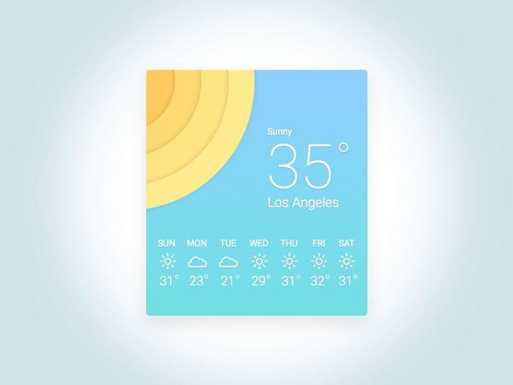 Weather Widget Rebound