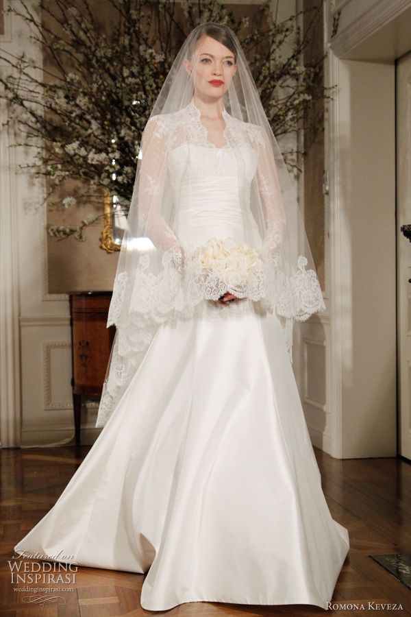 Kate Middleton style Grace Kelly-inspired wedding dress by Romona Keveza 2012 Legends bridal collection - fit for a princess