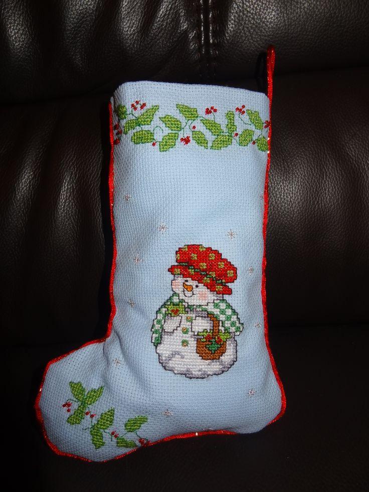 Xmas sock with beads