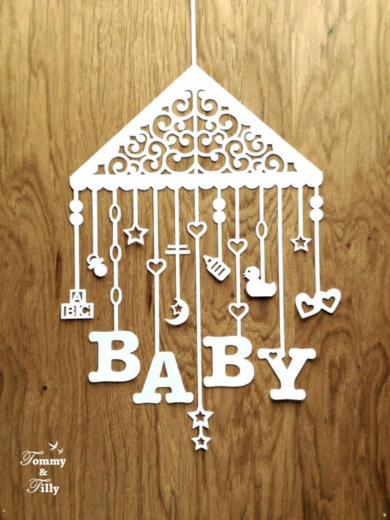 TEMPLATE 'Baby Mobile' 3 different by TommyandTillyDesign on Etsy