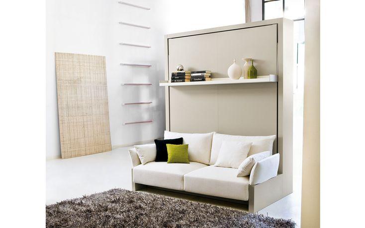 clei schrankbett sofa nuovoliola hochgeklappt clei. Black Bedroom Furniture Sets. Home Design Ideas