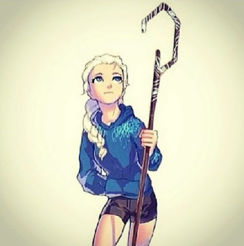 Elsa as Jack Frost. That awkward moment you realize, that genderbend Jack, is Elsa....
