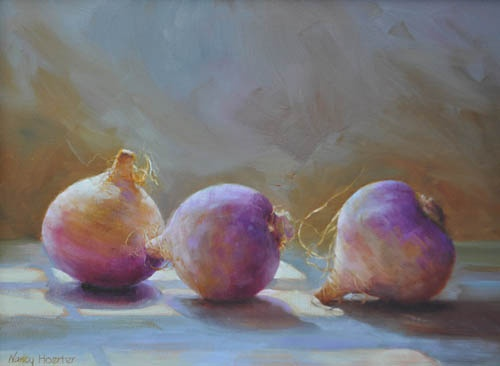 Nancy  Hoerter - Turnips Horton Hayes Gallery Turnips?!? Look at the colors - light play - and story behind??