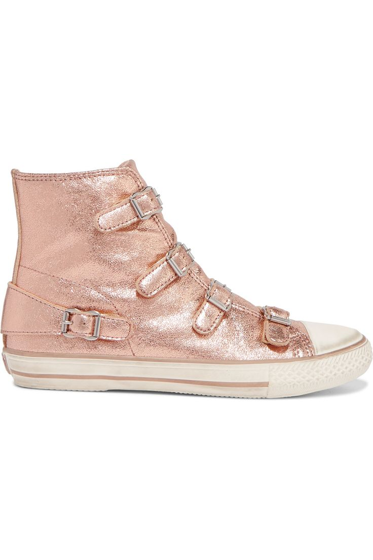 Shop on-sale ASH Metallic textured-leather sneakers. Browse other discount designer Sneakers & more on The Most Fashionable Fashion Outlet, THE OUTNET.COM