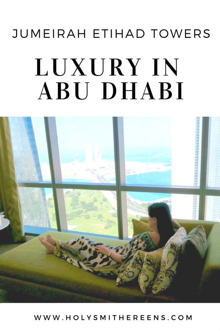 A review of the Jumeirah at Etihad Towers in Abu Dhabi. The Jumierah at Etihad Towers is one of five towers that make up a stunning , towering complex. With three swimming pools, a private beach, 12 restaurants and bars – this hotel offers a dizzying array of luxury served in such elevated heights.