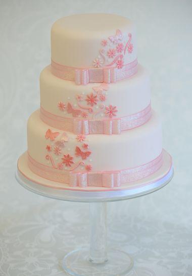 Pink Wedding Cake #WeddingCakes #Weddings