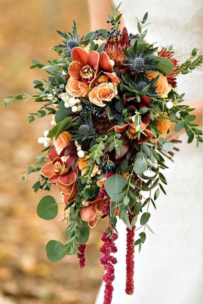 Autumn Wedding Flowers Bouquet Inspiration Wedding Flowers Brides Floral Women S Red Bouquet Wedding Flower Bouquet Wedding Cascading Wedding Bouquets