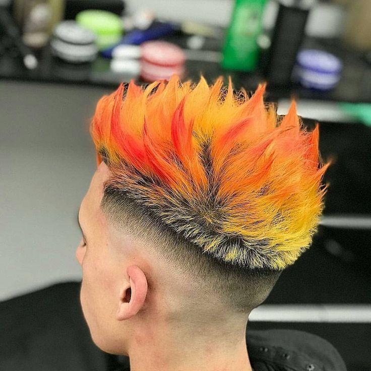 Fire Hair Hairstyles For Men Fire Hair Hairstyles Men Men Hair Color Fire Hair Boys Colored Hair