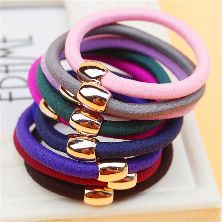 Golden Circle Solid Color Hair Accessories For Women Headband,Elastic Bands For Hair For Girls,Hair Band Hair Ornaments For Kids