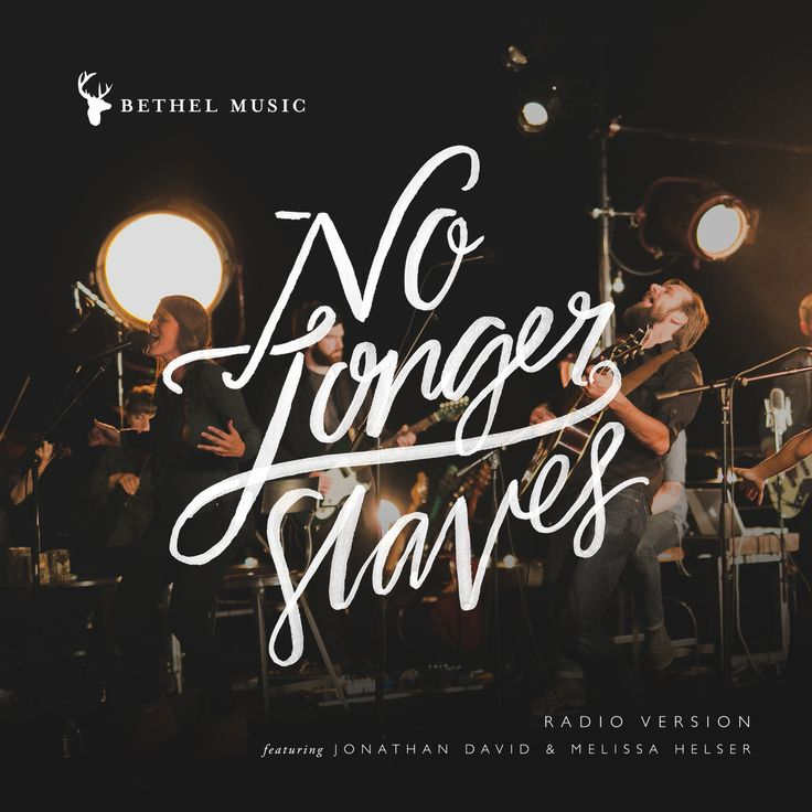 """'No Longer Slaves' is our life message, our testimony and it's what we want to declare over a generation. You are no longer slaves, you are sons and daughters of the Father."" -Jonathan David and Melissa Helser  ""No Longer Slaves"" is now on the radio-- get the radio version of the song here: http://bit.ly/bmslavesradio ‪#‎WeWillNotBeShaken‬"
