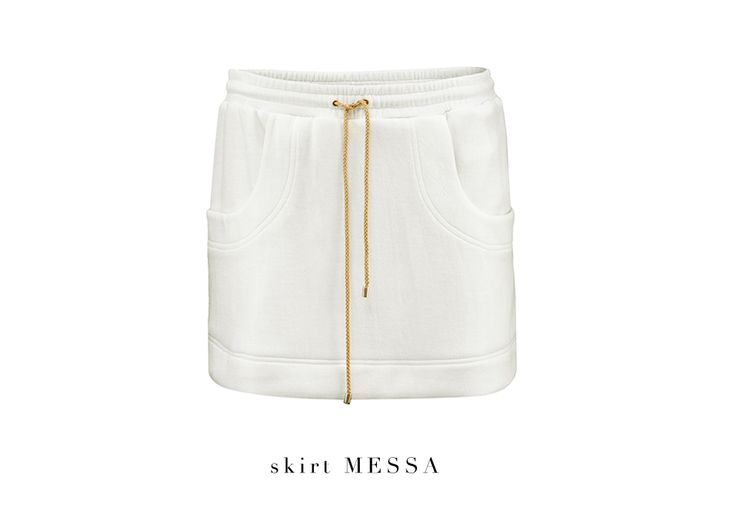 Today's new arrival: Sporty cotton MESSA skirt adds a casual twist to your look! #LaMania #NewArrivals #Fashion