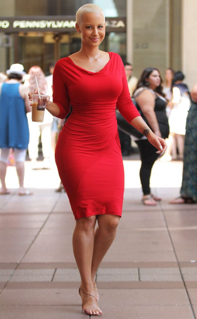 Red hot and rockin' curves, Amber Rose hits the streets of NYC!