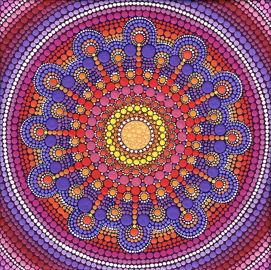 "Jewel Drop Mandala"" by Elspeth McLean | Redbubble"