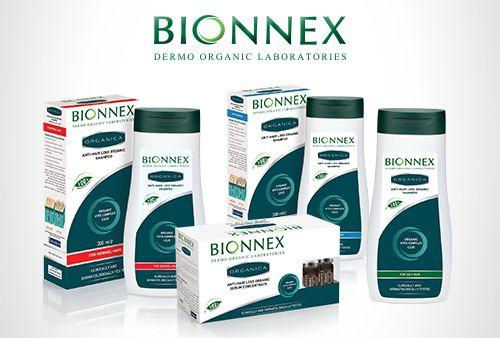 Bionnex Organica - Saç dökülmelerine karşı etkili şampuan, saç kremi ve serum serisi.