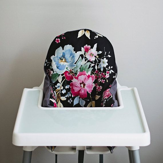 Malm Dressing Table Ikea Review ~ Watercolor Floral  IKEA Antilop Highchair Cover  High Chair Cover