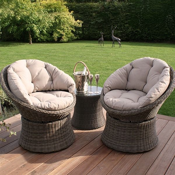 Maze Rattan Winchester Swivel Lounge Chair Set