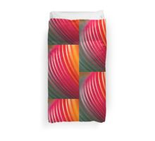Colorful color circular art swirl abstract photo Duvet Cover