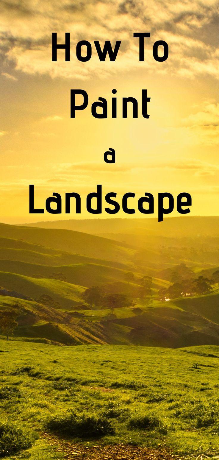 How To Paint A Landscape Oil Painting Tutorial In 2020 Simple Oil Painting Oil Painting Landscape Easy Landscape Paintings