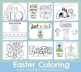 Just Color Easter Free Coloring Printables Some With Bible Verses To Trace