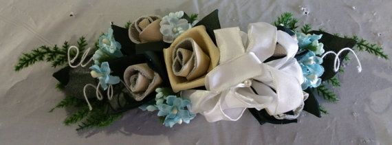 Check out this item in my Etsy shop https://www.etsy.com/listing/251791637/leather-rose-corsage-tan-with-white