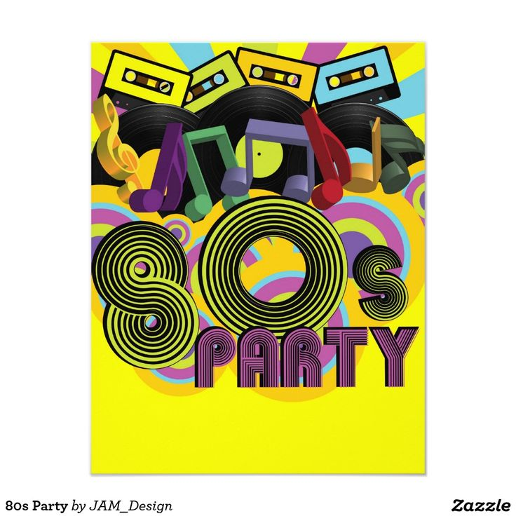 Fiesta 80s invitaci n x 5 5 cumple ro pinterest for Bagno 1 5 x 2