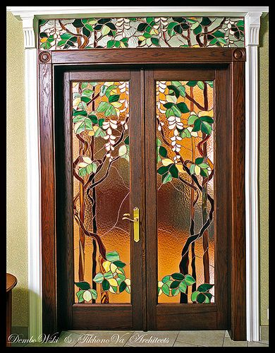 The stained glass door by underthepalm,