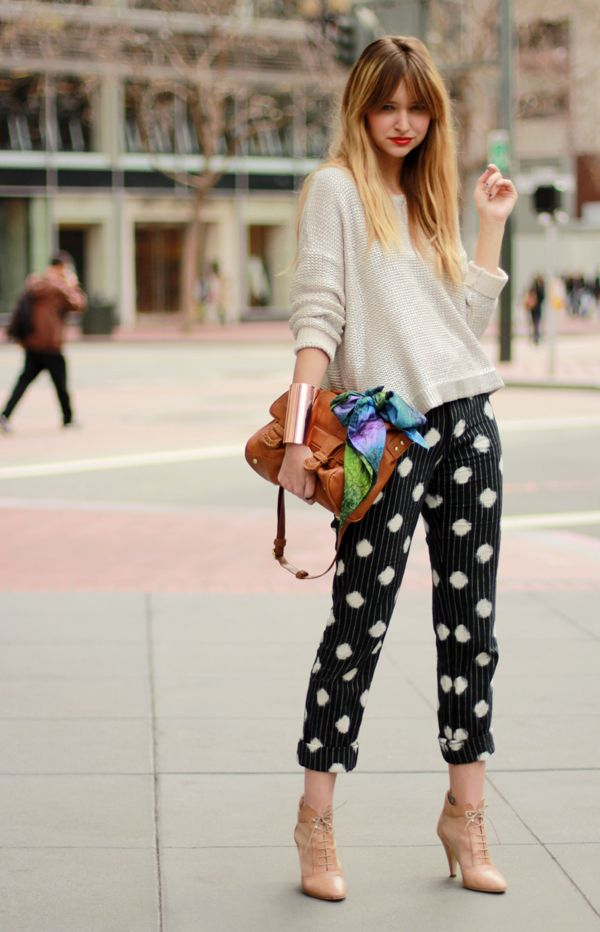 Patterned pants go a long way