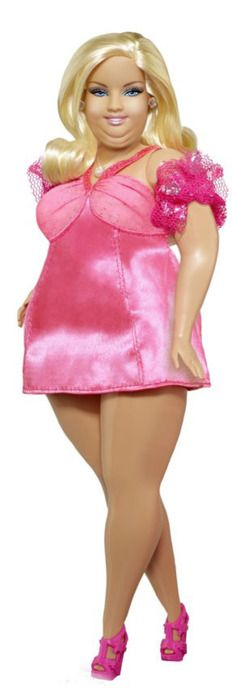 Barbie overweight.Not a pretty picture.