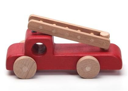 WoodenPlay on Etsy - Handcrafted wooden fire truck, natural, organic wooden toys for kids