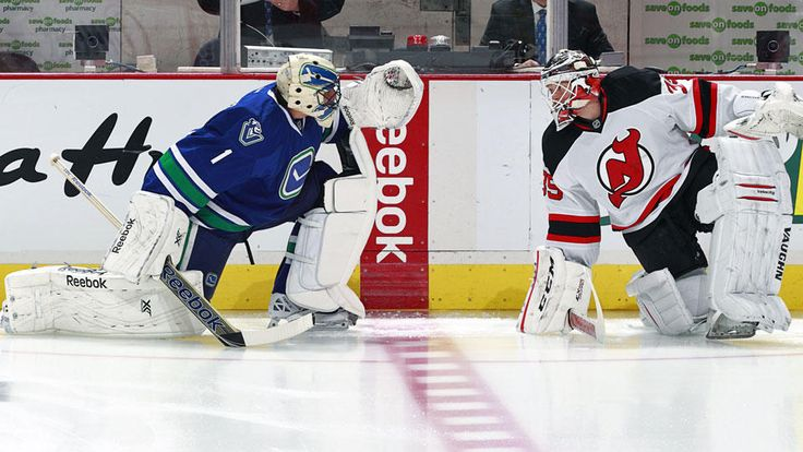 Cory Schneider, New Jersey Devils, and Roberto Luongo, Vancouver Canucks